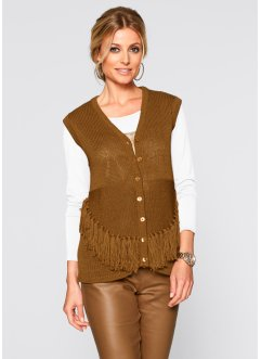 Gebreid vest, bpc selection, bronskleur