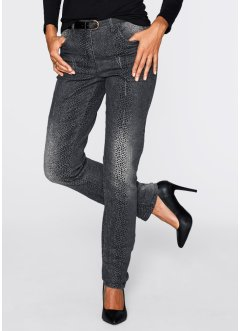 Stretchjeans, bpc selection, grey denim gedessineerd