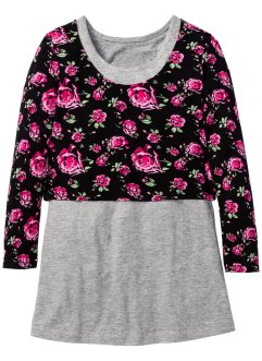 Jurk+shirt (2-dlg. set), bpc bonprix collection, lichtgrijs gedessineerd