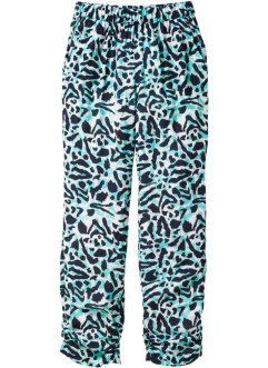 Broek loose fit, bpc bonprix collection, wit/zwart gedessineerd