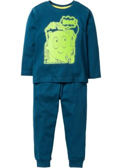 Pyjama «Glow in the Dark» (2-dlg. set), bpc bonprix collection, blauwpetrol