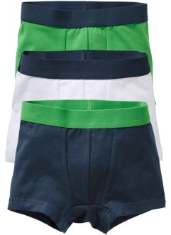 Boxershort (set van 3), bpc bonprix collection, donkerblauw/groen/wit