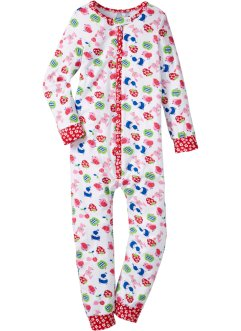 Pyjamapak, bpc bonprix collection, wit gedessineerd