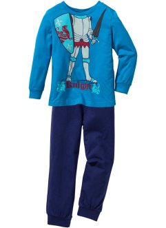 Pyjama (2-dlg. set), bpc bonprix collection, capriblauw/middernachtblauw