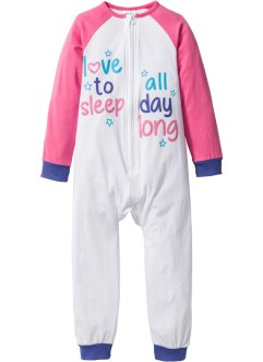 Pyjama, bpc bonprix collection, flamingopink/wit/paarsblauw