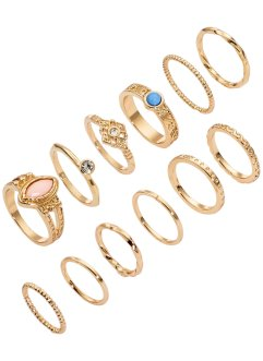 Ringen (12-dlg. set), bpc bonprix collection, goudkleur