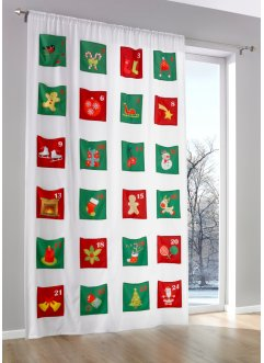 Gordijn «Adventskalender» (1 stuk), bpc living, multicolor