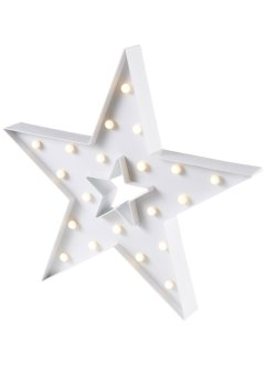 Led-decoratie «Kerstster», bpc living, wit