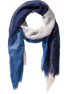 Herensjaal, bpc bonprix collection, blauw/grijs/beige
