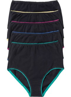 Tailleslip (set van 5), bpc selection, zwart/multicolor