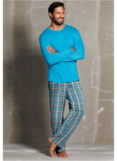 Pyjama, bpc bonprix collection, turkoois geruit