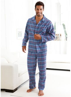 Pyjama, bpc bonprix collection, blauw geruit