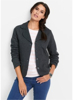 Sweatblazer, bpc bonprix collection, antraciet gemêleerd