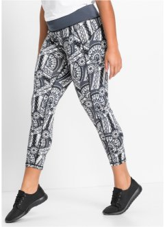 7/8-legging, bpc bonprix collection, zwart gedessineerd