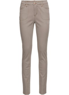 Skinny high waist-broek, RAINBOW, taupe