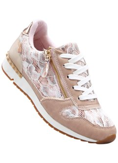 Sneakers, Lico, oudroze/beige