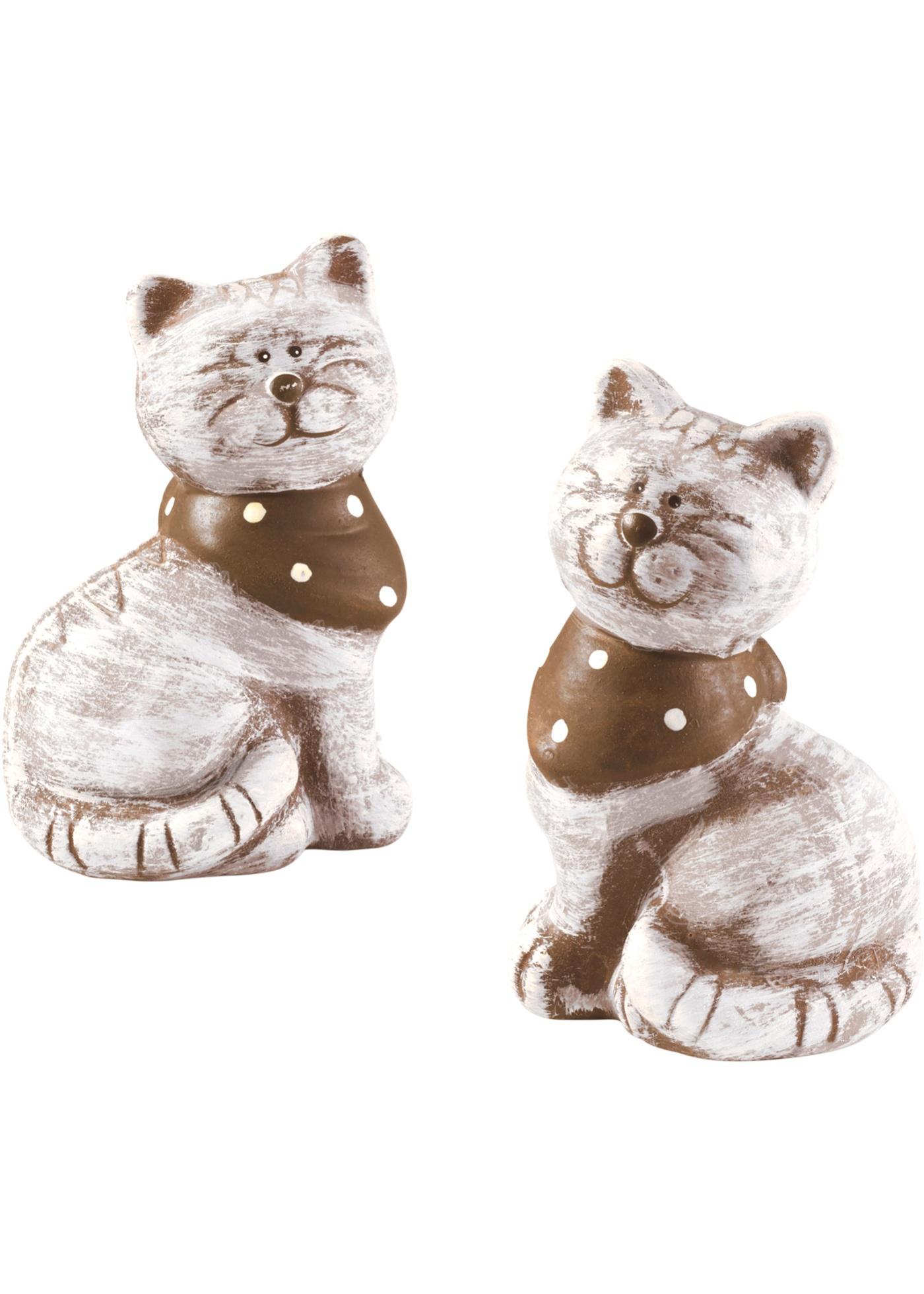 Deze twee poezen met gestippeld sjaaltje zorgen overal voor een vrolijke en gezellige stemming. op de ...