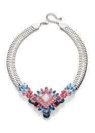 Collier, bpc bonprix collection, zilverkleur/pastel