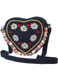 Schoudertas «Hart», bpc bonprix collection, donkerblauw/multicolor
