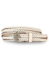 Leren riem, bpc bonprix collection, wit