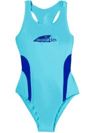 Badpak, bpc bonprix collection, aqua/royalblauw