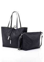 Shopper+tasje, bpc bonprix collection, zwart