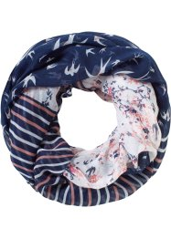 Tunnelsjaal, bpc bonprix collection, blauw/wit/roze