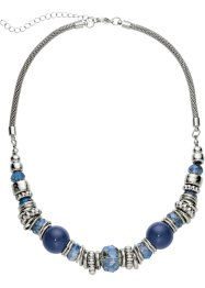 Collier, bpc bonprix collection, blauw/zilverkleur