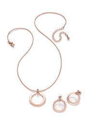 Collier+oorbellen (3-dlg. set), bpc bonprix collection, roodgoudkleur