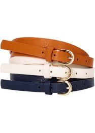 Riem (set van 3), bpc bonprix collection, crèmewit/indigo/cognac