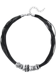 Collier, bpc bonprix collection, zwart/zilverkleur