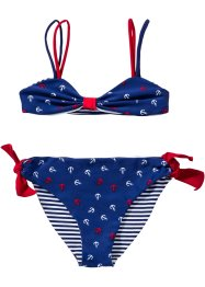 Tweezijdig te dragen bikini (2-dlg. set), bpc bonprix collection, blauw/wit