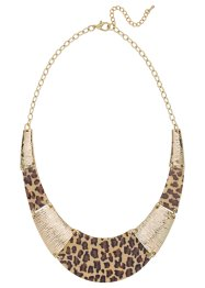 Collier «Luipaard», bpc bonprix collection, goudkleur luipaardprint
