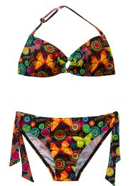 Bikini (2-dlg.), bpc bonprix collection, zwart gedessineerd