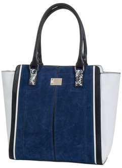 Handtas, bpc bonprix collection, blauw/zwart/beige