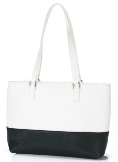 Shopper, bpc bonprix collection, zwart/wit