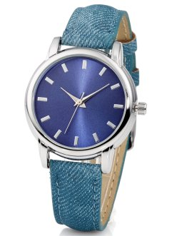 Horloge, bpc bonprix collection, denim blauw