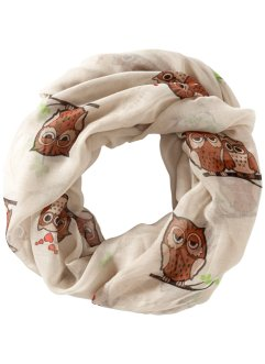 Tunnelsjaal «Uilen», bpc bonprix collection, beige/bruin