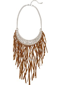 Collier, bpc bonprix collection, zilverkleur/bruin