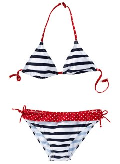 Bikini, bpc bonprix collection, donkerblauw/wit gestreept