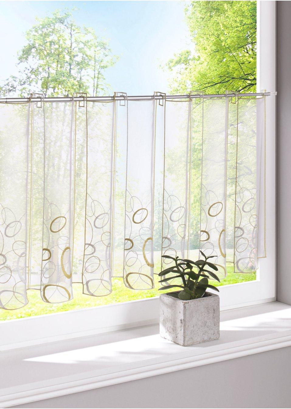 Glasgordijn ada gaten groen bpc living - Tchibo gardinen ...