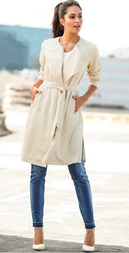 Dames - Trenchcoat - zwart