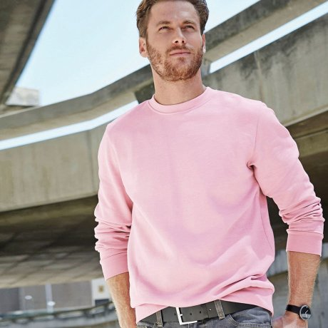 Heren - Sweater met ronde hals - roze