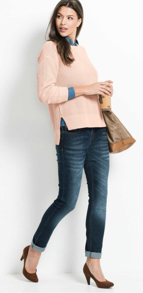Dames - Stretchjeans «SKINNY» - donkerblauw