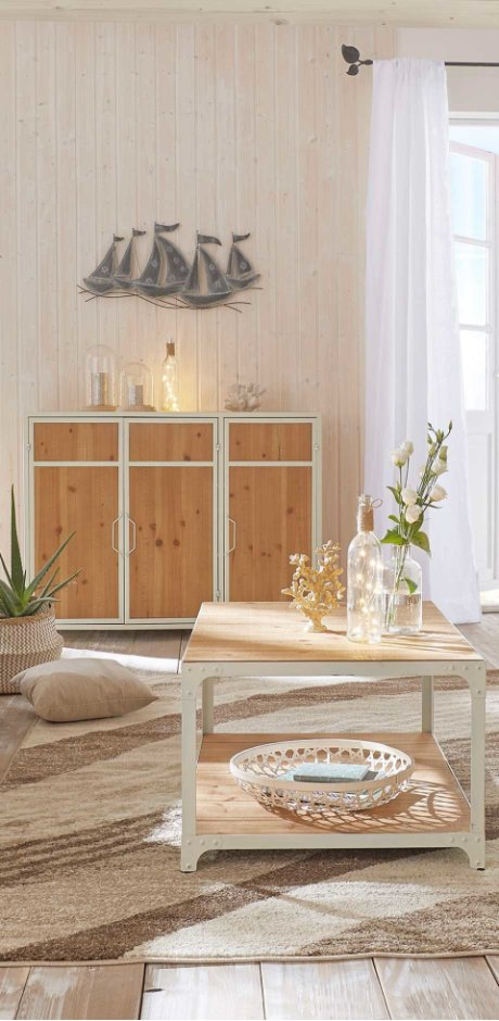 Wonen - Dressoir «Kim» - wit/naturel