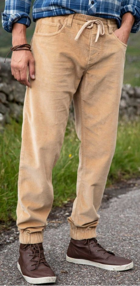 Heren - Broek regular fit straight - cognac