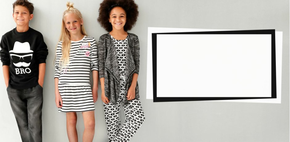 Kinderen - Trends & inspiratie - Collecties - Black & White in mixed prints