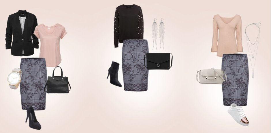 Dames - Kleding - Outfits  - 1 item, 3 looks