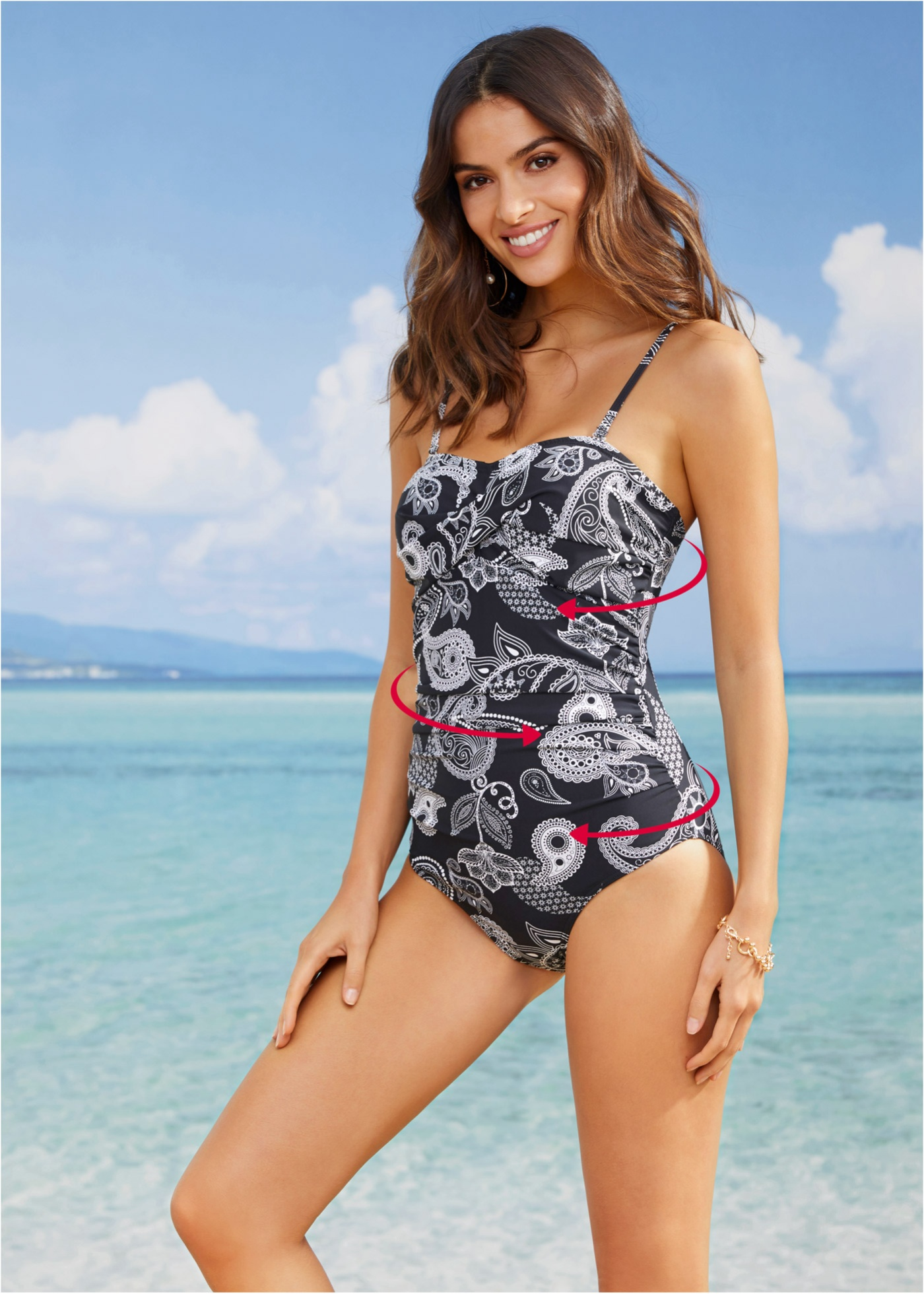 Dit elegante, corrigerende badpak van bpc selection creëert een mooi figuur door speciaal materiaal en ...