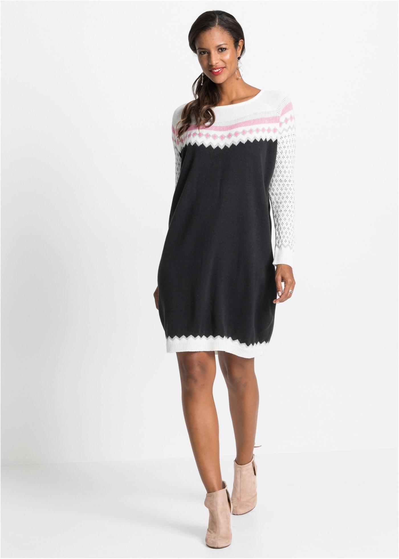 Gebreide jurk met patroon